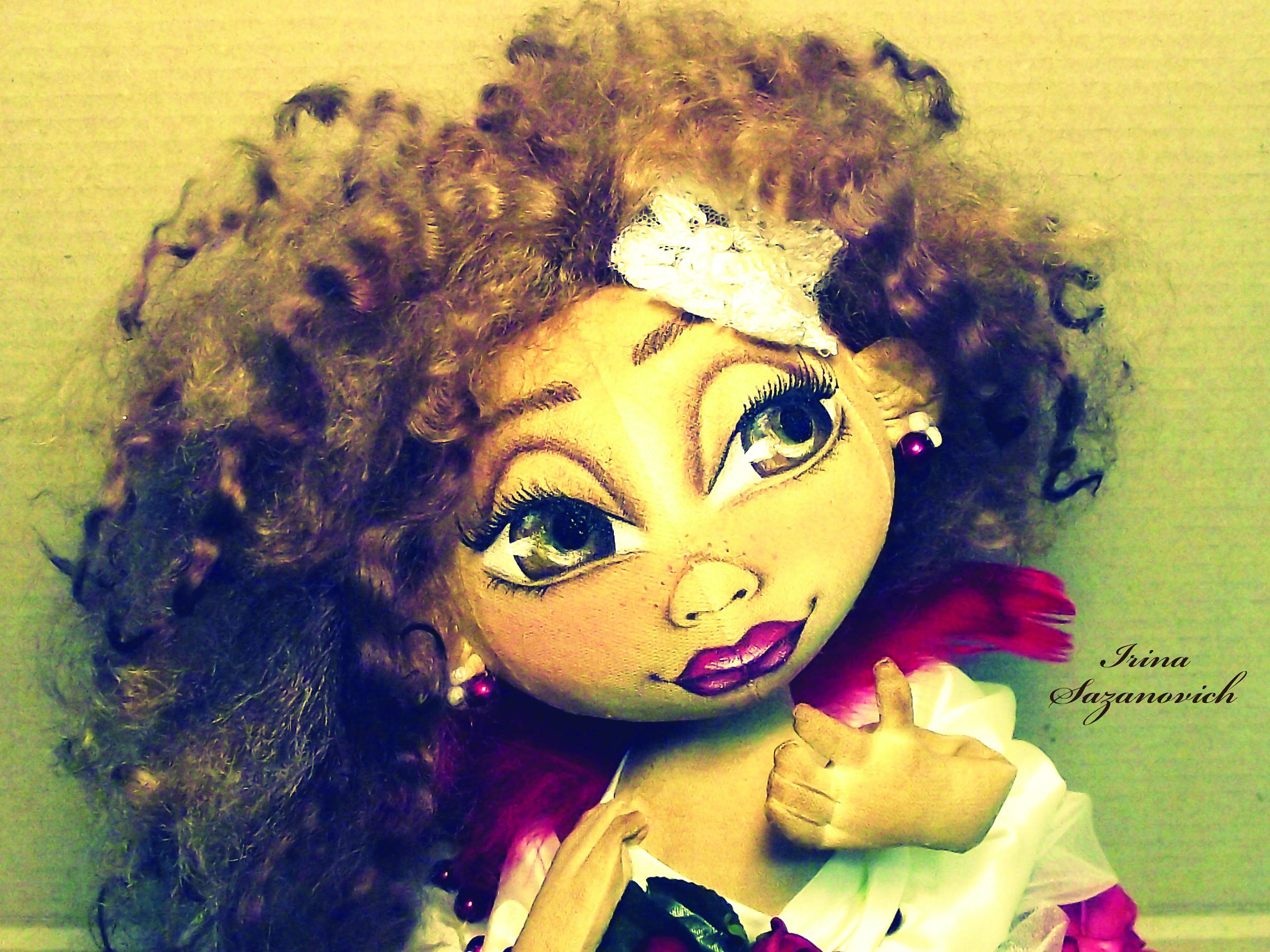Кукла с большими глазами своими руками 85